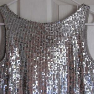 Silver Sequined Mini Dress Size 0 Free People
